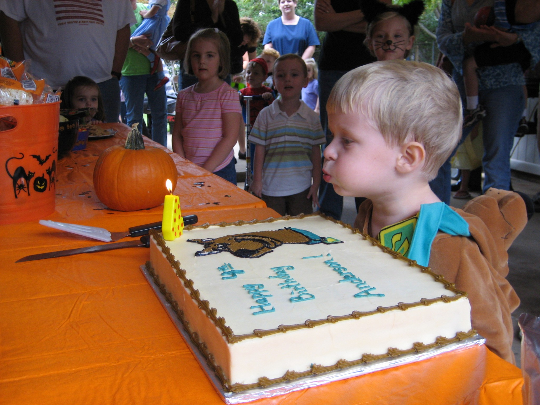 blowing out thecandles