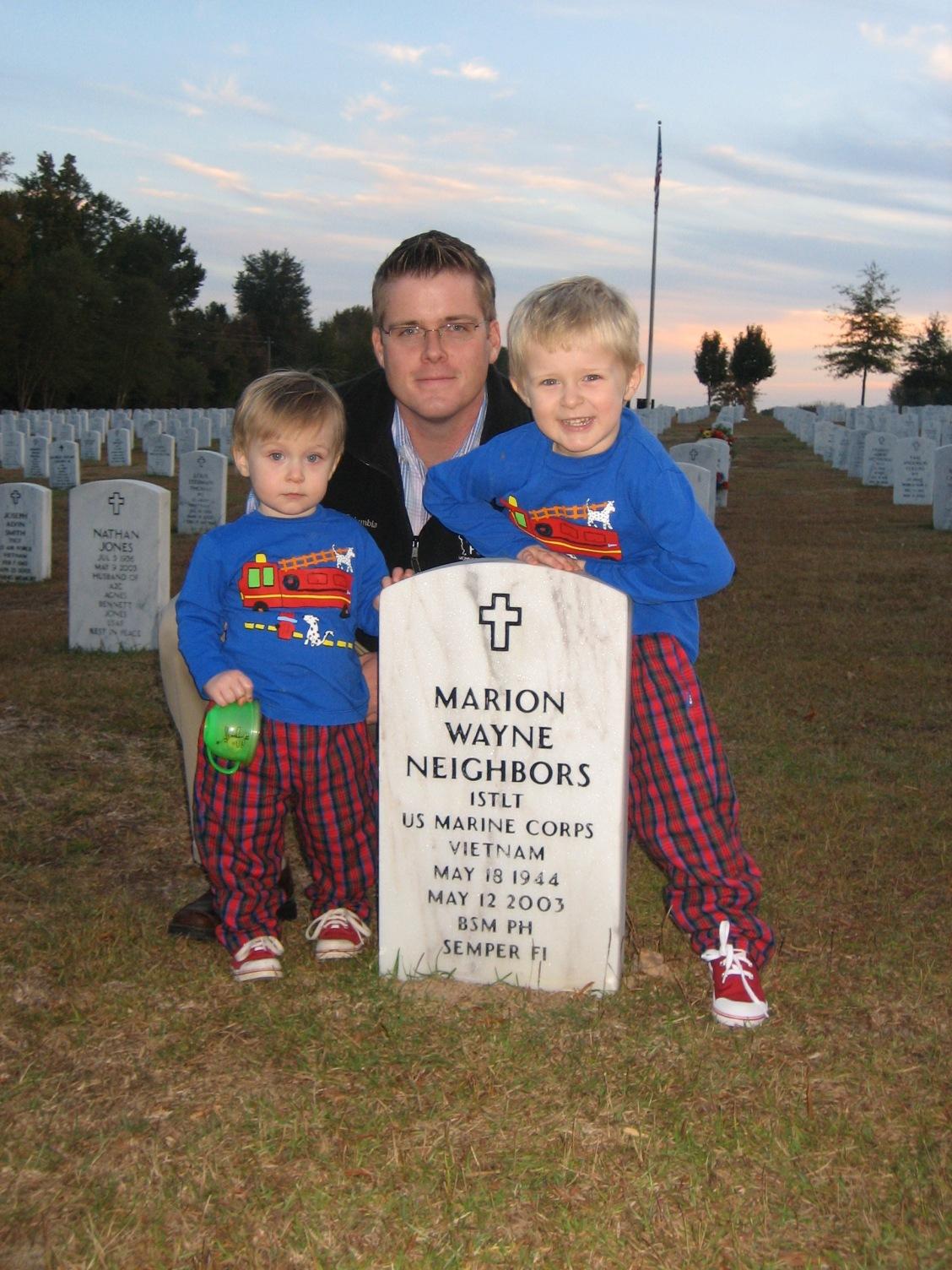 At the grave of PopWayne