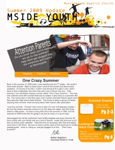 summer youth newsletter