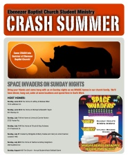 Summer 2013 CRASH Brochure